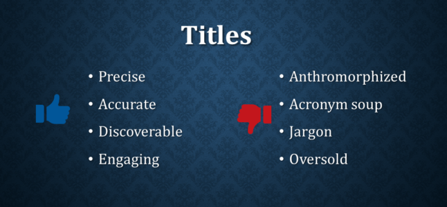 Writing Tips Titles Abstracts And Cover Letters